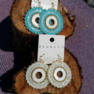 Natural Shell Seed Bead Earrings